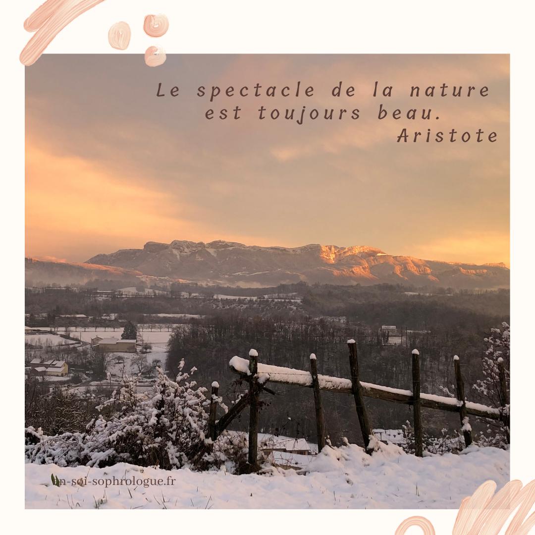 Le spectacle de la nature est toujours beau. Aristote